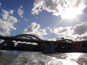 story bridge; ferry ride to the City
