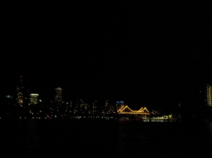 view from the ferry @ night