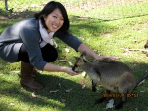 feeding a kangaroo again