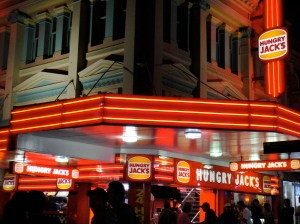 hungry jacks = burger king