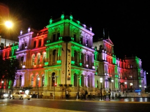 treasury building at night. it changes color if you haven't noticed already :)